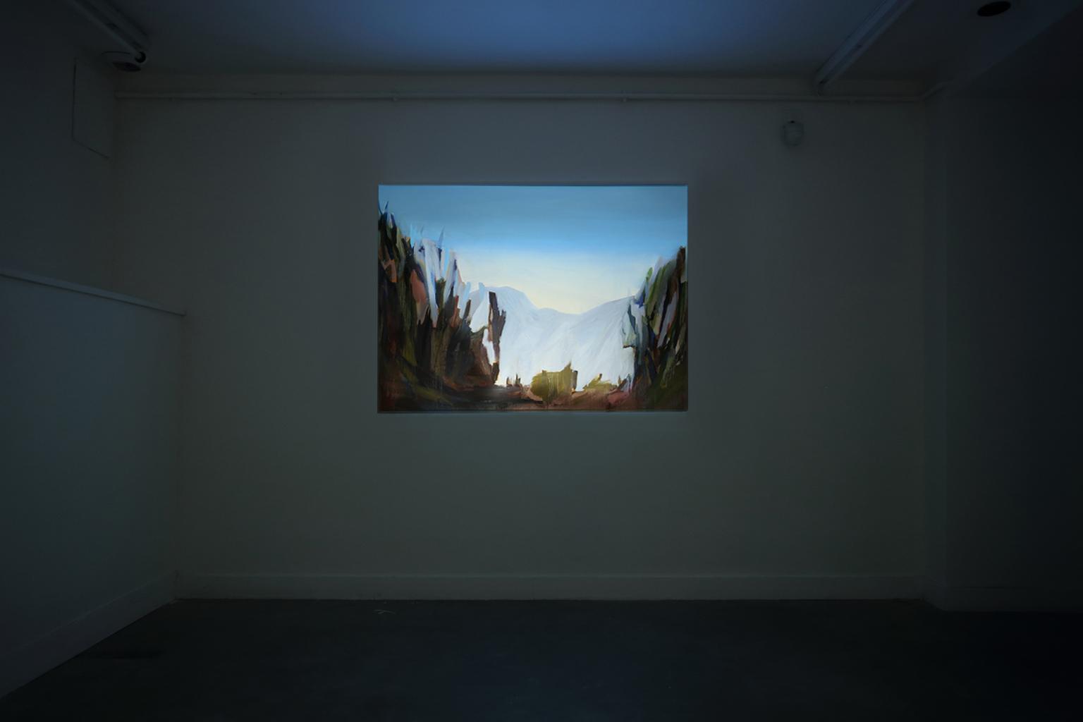 Projection vidéo sur toile de Claire Chauvel Exposition IMMERSION au CACL - mai 2015