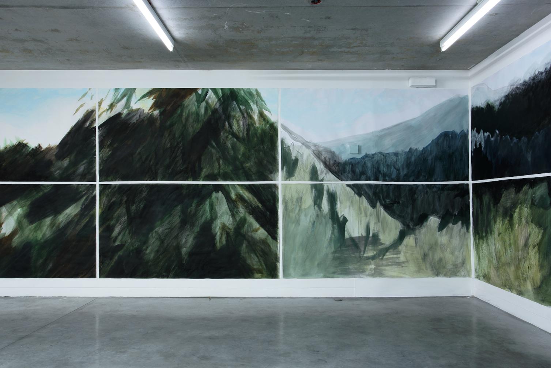 Peinture de Claire Chauvel (détail) Exposition IMMERSION au CACL - mai 2015