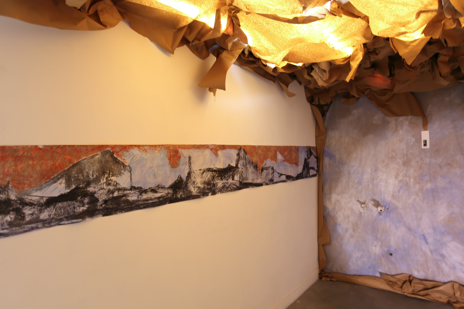 Installation de Annick Picchio Exposition IMMERSION au CACL - mai 2015